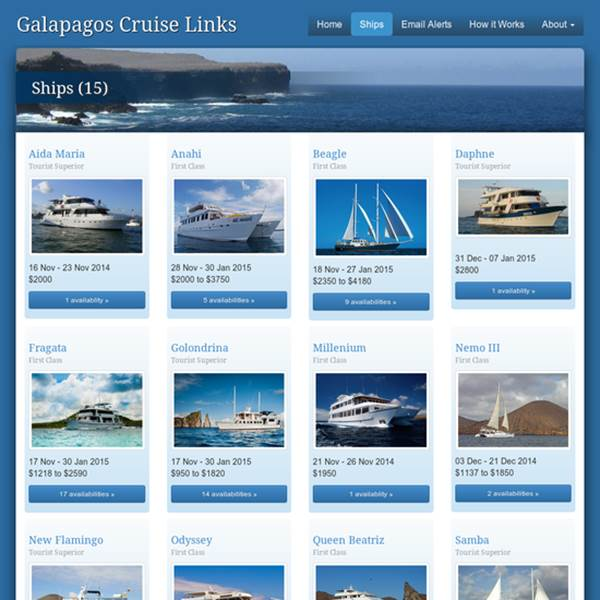 Galapagos Cruise Links